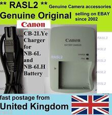 Cargador ORIGINAL CANON, CB-2LYe NB-6Lh PowerShot SX540 SX530 HS S200 S120 D30 D20