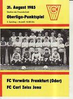 OL 85/86 FC Vorwärts Frankfurt/O. - FC Carl Zeiss Jena