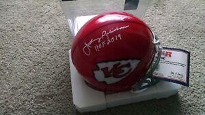 JOHNNY ROBINSON signed Kansas City Chiefs Mini w/HOF 19 Inscription , COA