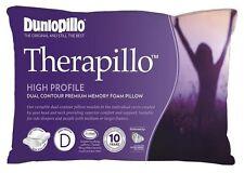 DUNLOPILLO Therapillo High Profile Dual Contour Premium Memory Foam Pillow NEW