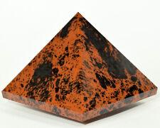"""2.5"""" Mahogany Obsidian Pyramid Polished Natural Crystal Mineral Specimen Mexico"""