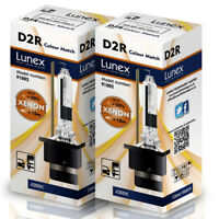 2 x D2R LUNEX XENON HEADLIGHT BULBS REPLACEMENT FOR PHILIPS , GE OR OSRAM 4300K