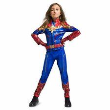 Disney Marvel's Captain Marvel Costume Dress 4pc Set Girls Size 3 4 5/6 7/8 9/10