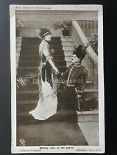 Charlie Chaplin MAKING LOVEE TO THE QUEEN Red Letter Photocard c1915