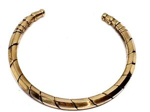 Kada Metal Bracelet Bangle 8 Metal Adjustable Ashta Dhatu Indian Torque Genuine