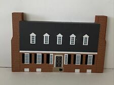Set of 2 Vintage Cat/'s Meow Village Houses Buildings Lincoln School Amish Meats