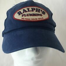 Ralphs Plumbing Baseball Hat Distressed Aeropostale Limited Edition A87 Cap Blue