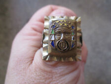 vintage Evil Devil Desperado Shiek Mexico Mexican Biker Ring  9