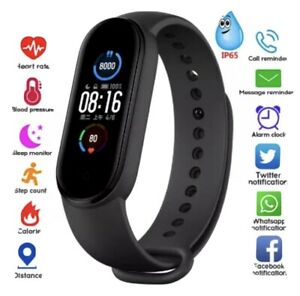 M5 Smart Watch Band Heart Rate BloodPressure Monitor Tracker Fitness Wristband