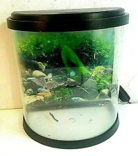TOP FIN 3.5 GALLON ENCHANT AQUARIUM WITH FILTER, LED LIGHT AND BACGROUND