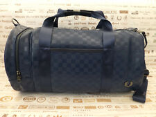 FRED PERRY Barrel Bag Signature CHECKERBOARD Shoulder Navy Carry Bags BNWT RP£75