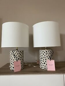 NWT Kate Spade Flamingo Dot Table Lamp Ceramic Lamp and Shade