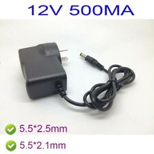 AU AC 100-240V Converter Adapter DC 12V 500mA 0.5A Power Supply 5.5 x 2.1MM  /BX