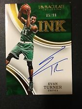 2015-16 Immaculate Evan Turner Immaculate Ink Auto /99
