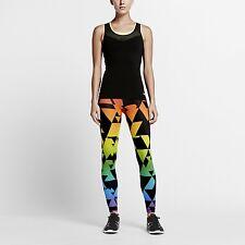 Nike BETRUE Training Tights Pants Rainbow Running Gym Womens Size 842570 010
