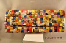 NAHUI OLLIN Woven Candy Wrapper Front Flap Zippered Clutch Bag Purse