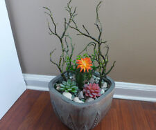 Artificial Dry Branches With Succulents (Set of 6 Mini Plants)