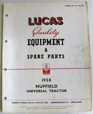 Lucas NUFFIELD Universal Tractor 1958 CCE832E Electrics Equipment & Spare Parts