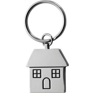 Aluminium House Keyring - Chrome Gift box included - House Warming Present