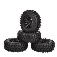 "1.9"" Rubber Tires/Wheel Rims for Axial SCX10 D90 Tamiya CC-01 1/10 RC Crawler"