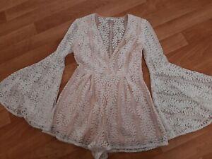 Ladies Sz 10 Sweet Pot Lace Playsuit