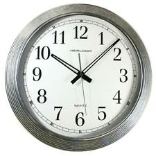 Artistic Products LLC AOP401ZWA Wall Clock- Galvanized Metal- 16in.- Silver