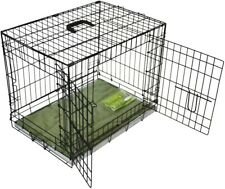 BUNNY BUSINESS Metal Dog Crate 77.5 X 48 X 57 Cm with Bedding and Lint Rollers