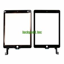 iPad Air 2 2nd Gen Black Front Glass Touch Screen Digitizer Replacement+Adhesive