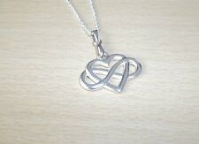 TIBET SILVER INFINITY HEART  PENDANT LOVELY DETAIL & 18inch CHAIN
