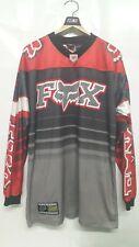 Vintage Motocross FOX Red Black CR Long Sleeve T-Shirts Size M