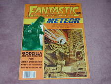 FANTASTIC FILMS magazine # 13, Godzilla, PULP Science Fiction art, ALIEN