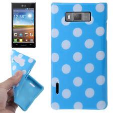 TPU Case für LG P700 Optimus L7 in hellblau mit weißen Punkten Hülle Schutzcase