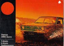 Datsun Nissan Cherry 1000 Saloon & Estate 1974-75 Dutch Market Brochure 100A