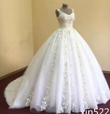 Cinderella Princess Wedding Dress Bridal Ball Gown Custom Size 4 6 8 10 12 14 16
