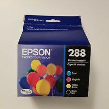 GENUINE Epson 288 Ink Cartridge Value Pack Cyan Magenta Yellow & Black SEALED