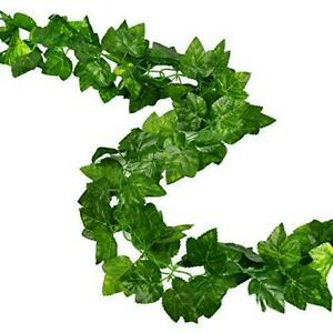 Rurality Artificial Ivy Garland Fake Green Vines with Grape Leaves for