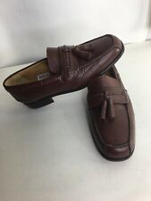 Sandro Moscoloni 7.5 Brown Tassel Loafers Men's Dress Shoes