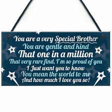 Birthday Christmas Brother Gifts From Sister Hanging Family Plaque Keepsake