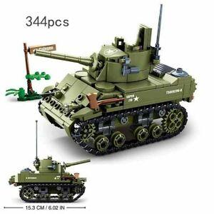 Sluban M3 Stuart Light Tank Custom US Army WW2 Military Building Block