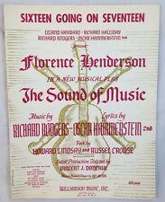 1959 Sheet Music Sixteen Going On Seventeen Florence Henderson Sound of Music
