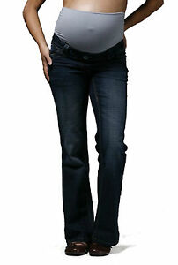 Indigo Bootcut Maternity Jeans, Over Bump Pregnancy Denims Petite Tall Plus Size