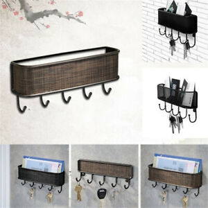 Key & Letter Holder Wall Hook Vintage Design Elegant Mail Organizer Storage Rack