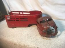 Vintage 1940s Steel Toy Truck and Trailer parts repair lot
