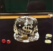 Black fitted money cap