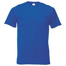 Camiseta casual de manga corta para hombre Azul Cobalto