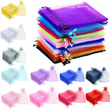 100 LUXURY Organza Bags Wedding Xmas Party Favour Gift Candy Jewellery Pouches
