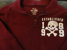 BOY/GIRL ZIP MAROON PULL OVER CHILDRENS PLACE SIZE 7/8