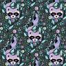FAT QUARTER Free Spirit Tula Pink Acacia Raccoons Blueberry