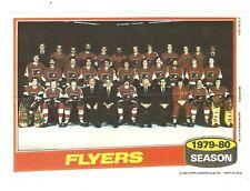 1980-81 Topps Hockey Team Photo Mini Poster Pinup Philadelphia Flyers Mint