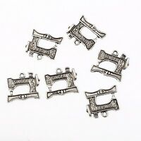 10Pcs Tibetan Silver SINGER Sewing Machine Charms Pendants DIY Jewelry Making